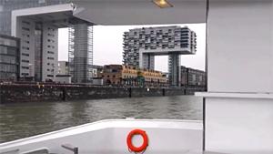 Kranhäuser Liegeplatz Rheinau-Hafen Köln